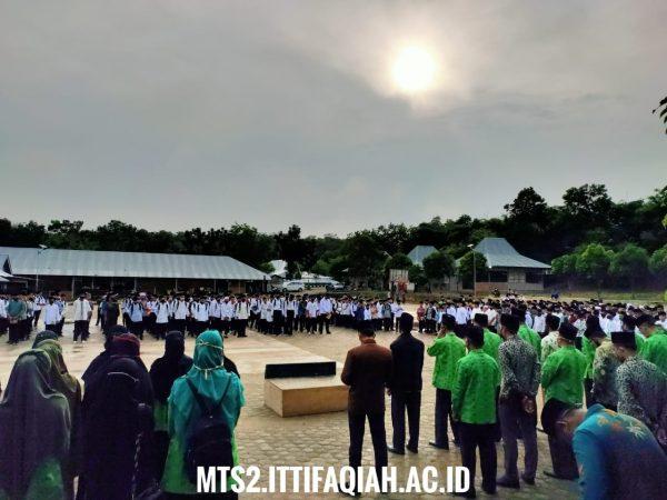 MTs Al-Ittifaqiah 2 Melaksanakan Placement Test Santri Baru..